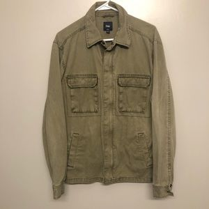 Gap military field jacket green large